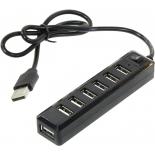 USB-концентратор Orico USB2.0 Hub 7 port, чёрный