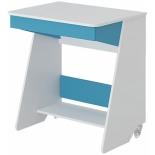 стол компьютерный Мэрдэс СК-7 БЕСИ, Белый жемчуг - синий мрамор