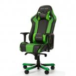 игровое компьютерное кресло DXRACER King OH/KS06/NE, для геймеров, черно-зелёное