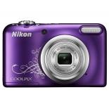 цифровой фотоаппарат Nikon Coolpix A10, фиолетовый с рисунком