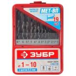 набор сверл ЗУБР 4-29605-H19,  19шт