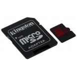 карта памяти Kingston MicroSDHC class10 R/W 90/80 MB/s с адаптером