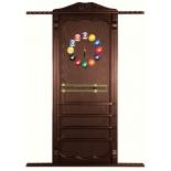 киевница Weekend Billiard (навесная с полкой для шаров), темно-коричневая
