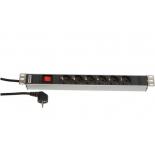 серверный аксессуар Hyperline SHT19-6SH-S-2.5EU (Блок розеток)