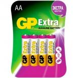 батарейка GP AA (LR6), 1.5 В, 4 шт. (GP15AX-2CR4)