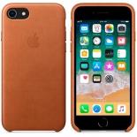чехол iphone Apple для iPhone 8 / 7 Leather Case  (MQH72ZM/A), золотисто-коричневый