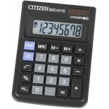 калькулятор Citizen SDC-011S 8-разрядный, цвет черный