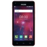 смартфон Philips Xenium V377, Красный/Чёрный