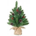 новогодняя елка Triumph Tree Ель Кристина 30 см (в мешочке), зеленая
