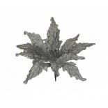 новогоднее украшение Triumph Tree цветок (30 см), серебристый