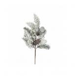 новогоднее украшение Triumph Tree веточка глазго с ягодами (53 см), белая