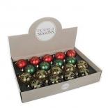 новогоднее украшение Triumph Tree набор шаров (7 см) красный/зеленый/золото