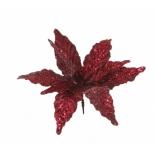 новогоднее украшение Triumph Tree цветок (30 см), темно-красный