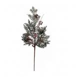 Новогоднее украшение Triumph Tree веточка айсберг с ягодами (53x14 см), red, купить за 630руб.