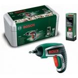 шуруповерт набор инструментов Bosch IXO + PLR15, [603672003]