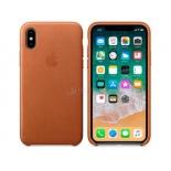 чехол iphone Apple для iPhone X Leather Case (MQTA2ZM/A), saddle brown
