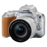 цифровой фотоаппарат Canon EOS 200D Kit (EF-S 18-55mm IS STM), серебристый