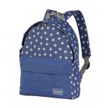 рюкзак городской Nosimoe 003-02D звёзды-карман-голубой