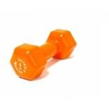 гантель Original FitTools FT-VWB-4 (4 кг), оранжевая