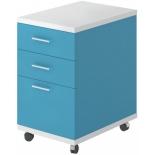 мебель компьютерная Тумба Мэрдэс ТС-2 БЕСИ, белый жемчуг-синий мрамор