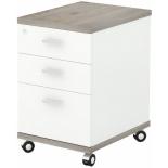 мебель компьютерная Тумба Мэрдэс ТС-2 НБЕ, нельсон-белый жемчуг