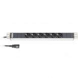 серверный аксессуар Hyperline SHT19-6SH-2.5IEC (Блок розеток)