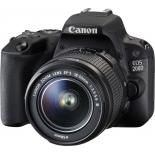 цифровой фотоаппарат Canon EOS 200D Kit (EF-S 18-55mm DC III), черный