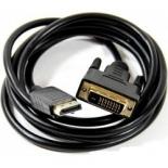 кабель (шнур) Telecom TA668-1.8M (DP - DVI-D DL, M/M, 1.8 м), чёрный