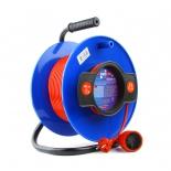 удлинитель электрический PowerCube PC-B1-K-30, оранжевый/синий