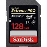 карта памяти SanDisk SDXC 128GB Class 10 UHS-II Extreme Pro, 300 Mb/sec