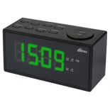 Радиоприемник Радиобудильник Ritmix RRC-1212, черный