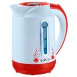 Чайник электрический Centek CT-1035, белый/красный, купить за 965руб.