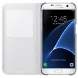 чехол для смартфона Samsung для Samsung Galaxy S7 edge S View Cover белый