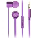 гарнитура для телефона Kitsound Hive, фиолетовая