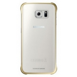 чехол для смартфона Samsung для Samsung Galaxy S6 Edge Plus Clear Cover золотистый/прозрачный