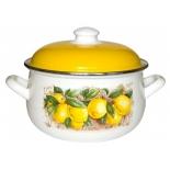 кастрюля Interos Лимоны (5,1 л), эмаль декоративная