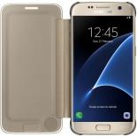 чехол для смартфона Samsung для Samsung Galaxy S7 Clear View Cover золотистый