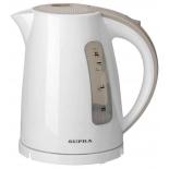 чайник электрический Supra KES-1726, белая / бежевая