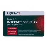 программа-антивирус продление лицензии на 1 год  Kaspersky Internet Security Multi-Device Russian Ed. 2-Device