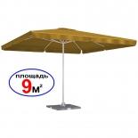 зонт садовый Торг-Хаус Квадрат, светло-горчичный