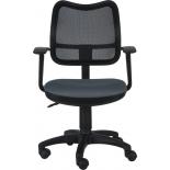 компьютерное кресло Бюрократ CH-797AXSN/26-25 спинка сетка чёрная сиденье серое