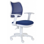компьютерное кресло Бюрократ CH-W797/BL/TW-10 спинка сетка синий сиденье синий TW-10 (пластик белый)