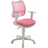компьютерное кресло Бюрократ CH-W797/PK/TW-13A спинка сетка розовый сиденье розовый TW-13A (пластик белый)