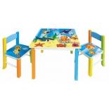 комплект детской мебели Бюрократ KidSet-01/Ocean, стол + 2 стула (столешница МДФ 595х595х533, стул 280х300х300 в570)