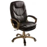 компьютерное кресло Бюрократ CH-868YAXSN/Coffee dark brown искусственная кожа (пластик золото)