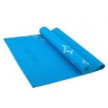 коврик для йоги Starfit FM-101 (173x61x0,6 см), с рисунком, синий