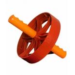 тренажер Ролик для пресса (1-колесный) большой, широкий, оранжево-красный