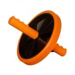 тренажер Ролик для пресса (1-колесный) большой, оранжево-черный