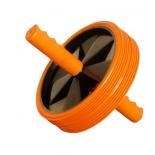 тренажер Ролик для пресса (2-колесный) большой, оранжево-черный