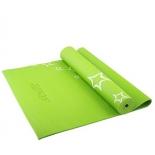 коврик для йоги Starfit FM-102 (173x61x0,6 см), с рисунком, зеленый